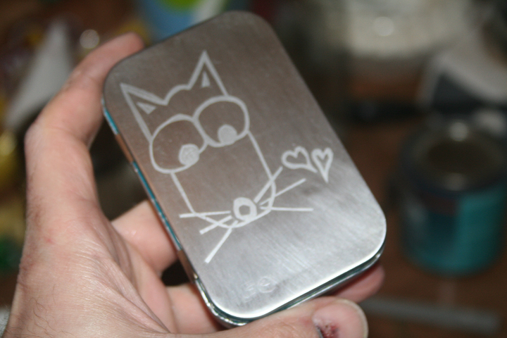 Etched Minty Valentines Candy Box
