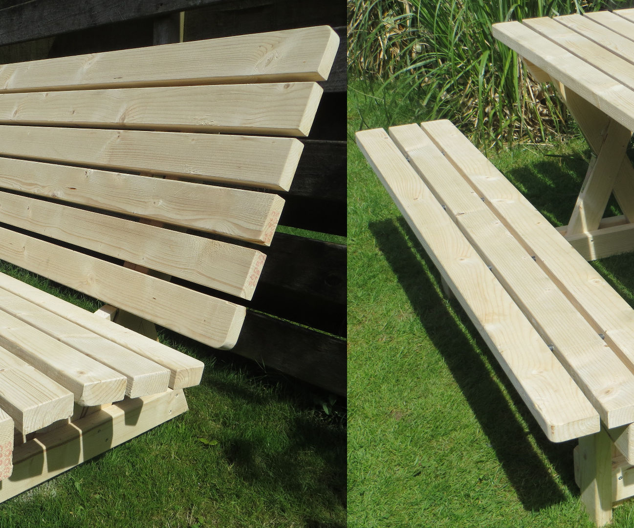 Picnic table and bench - 2 in 1