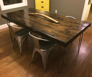 Modern Farm Table With Hairpin Legs for Under $200