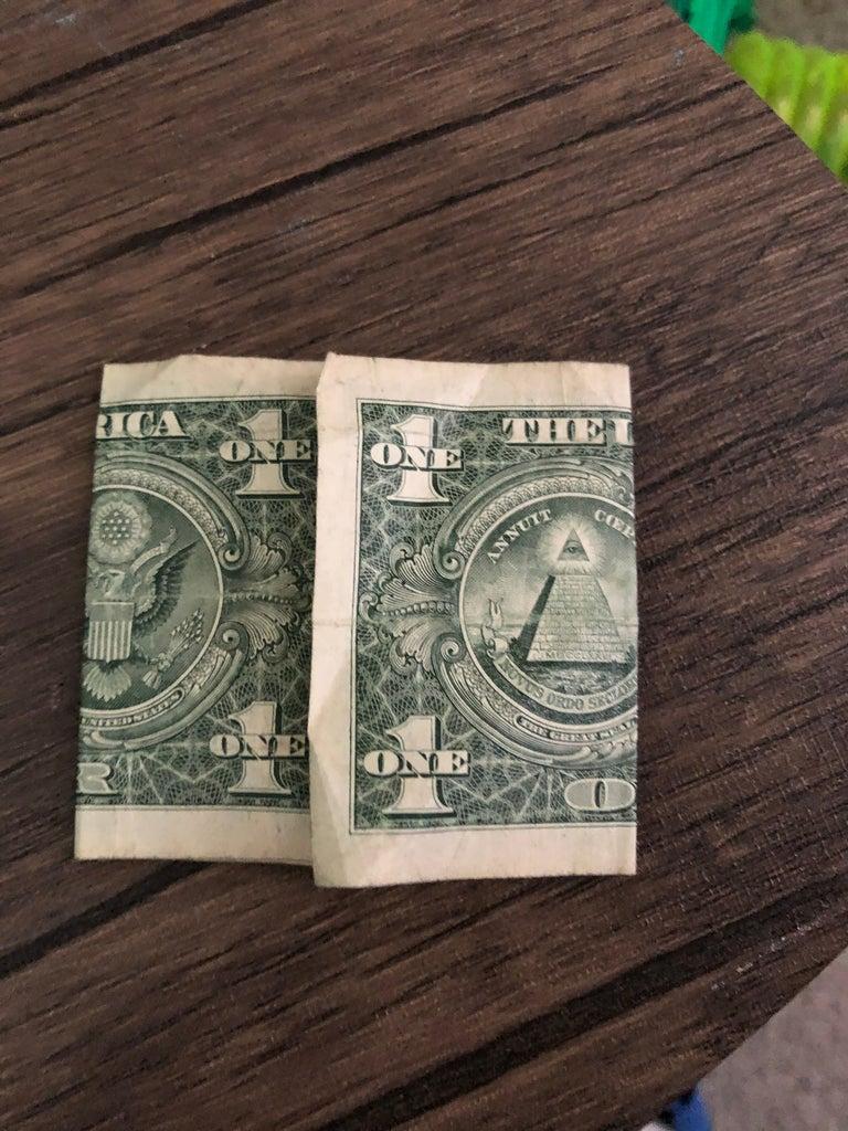 Step 3: Fold the Edges of the Dollar