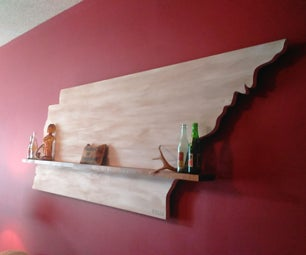 Rustic Tennessee Floating Shelf