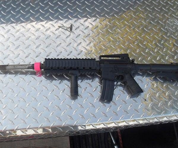 How to Make a Flash Suppresor/silencer for an Airsoft Gun