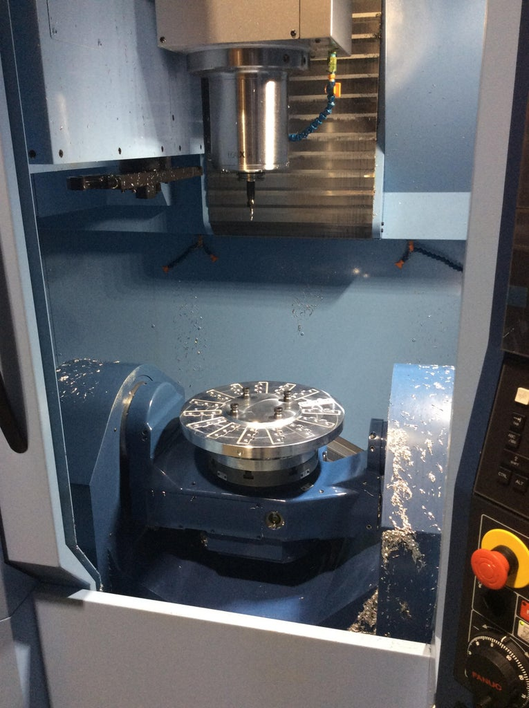 Fixture Blank Is Complete; Ready for 5-axis Machining on Matsuura MX-330