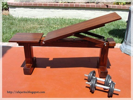 Weight Bench 5 Position Flat Incline Doubles As Patio Bench 10 Steps With Pictures Instructables