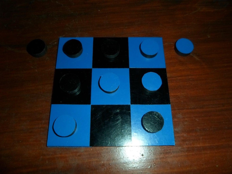Black & Blue Tic-Tac-Toe