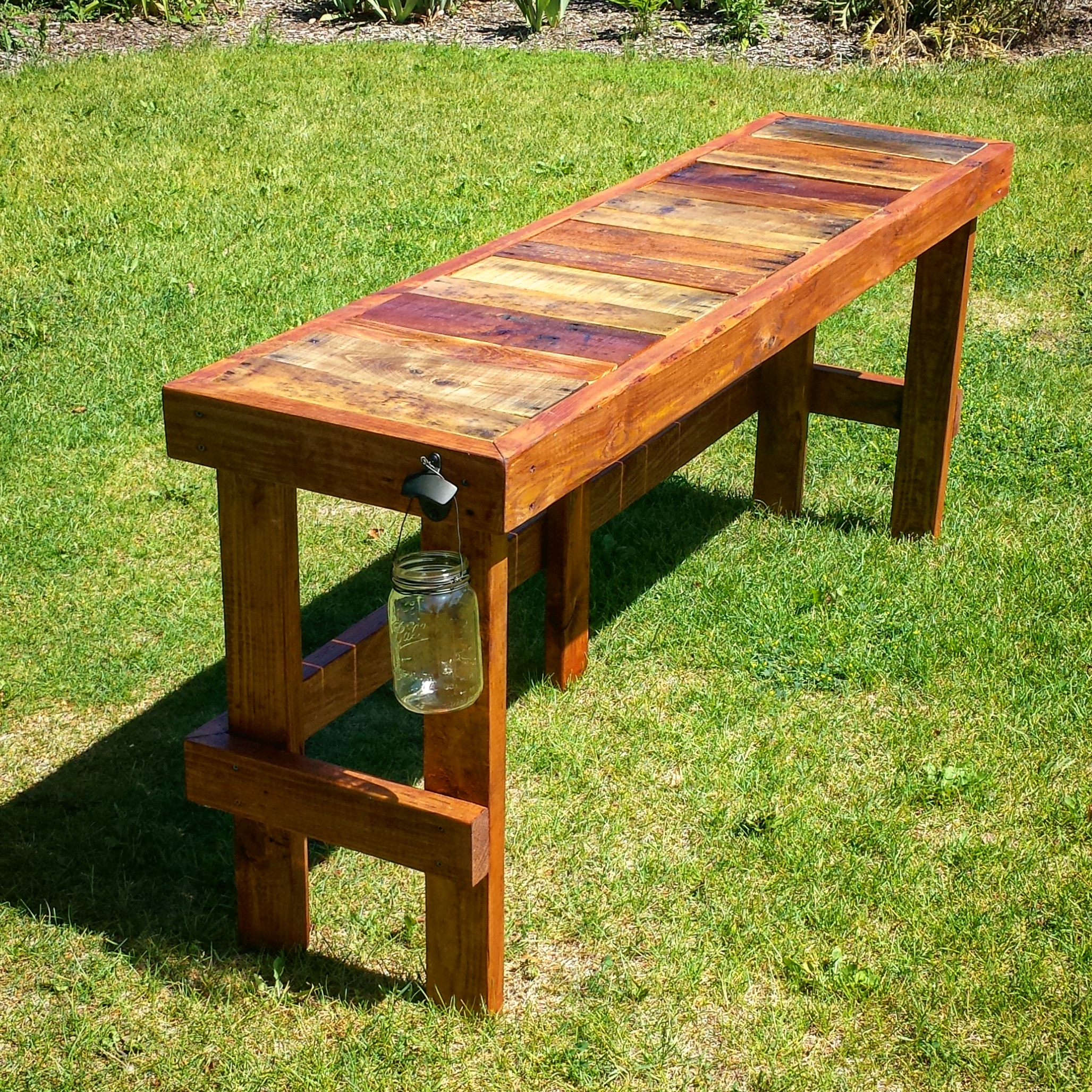 Pallet Wood Top Bar