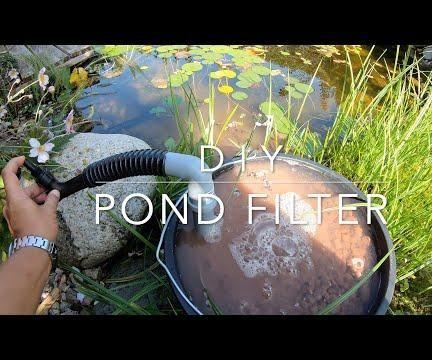 DIY Solar Powered Pond Filter With Skimmer