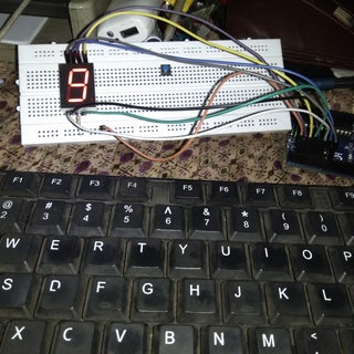 Arduino Decimal Counter With 7 Segment Display