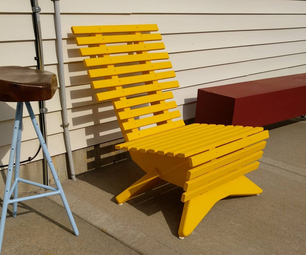 Slatted Patio Chair