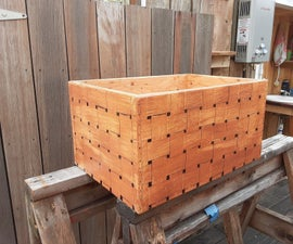 Faux Weave Design Storage Box for Bicycle
