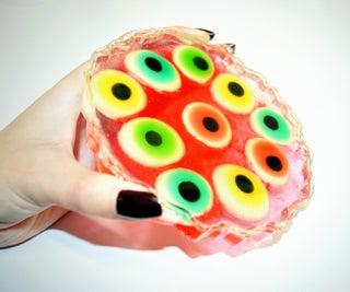 Eyeball Gummies Resin Coaster