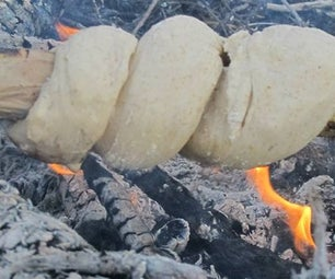 No Knead ''Stick Bread'' |Quick Recipe for Camping Use