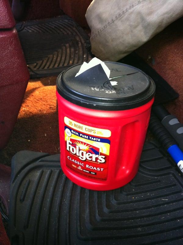 Tom's - EZ Plastic Coffee Can Trash Can