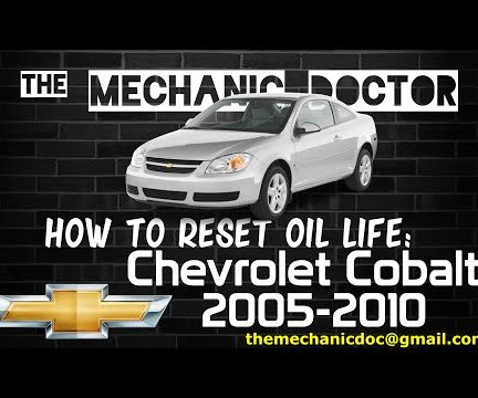 How to Reset Oil Life: Chevrolet Cobalt 2005-2010