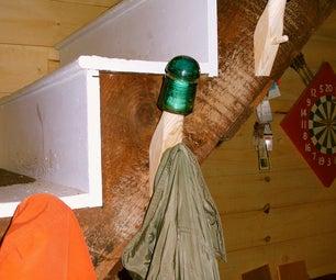 Coat Hooks From Old Telephone Line Insulators