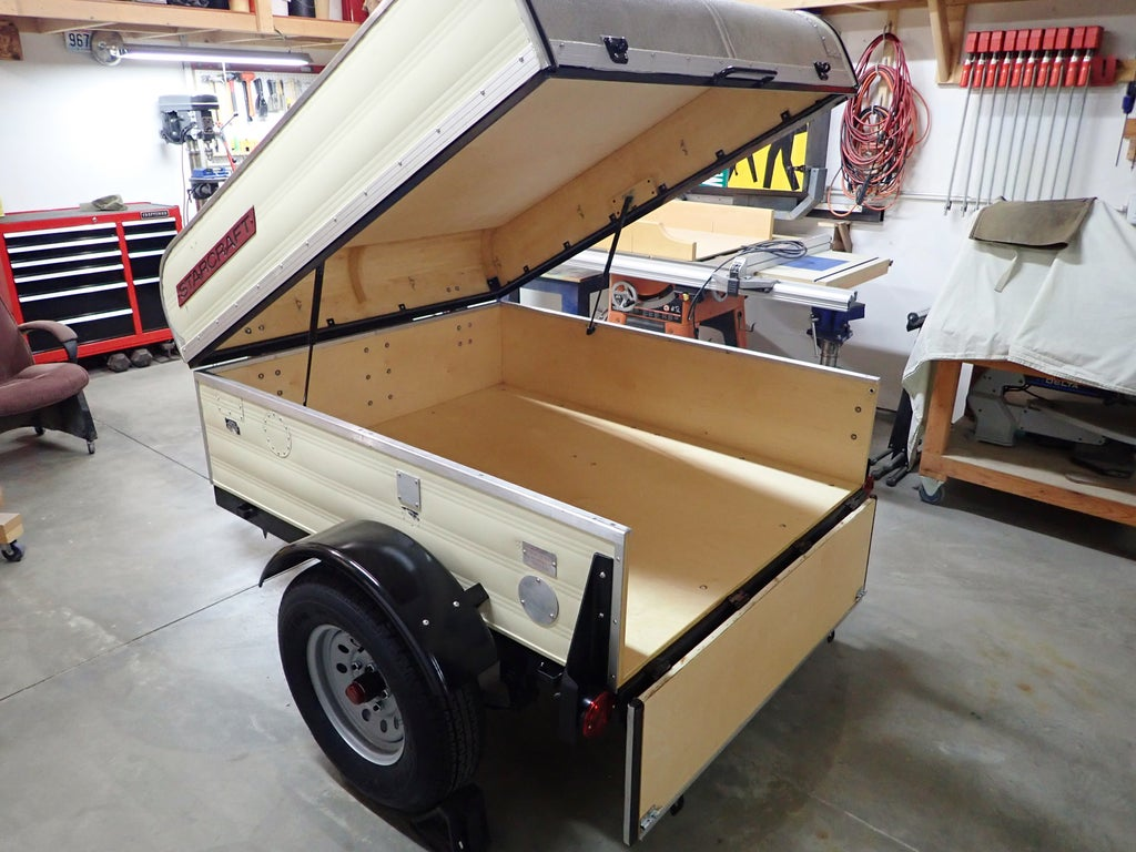 Retro Style Camping Gear Trailer 8 Steps With Pictures Instructables