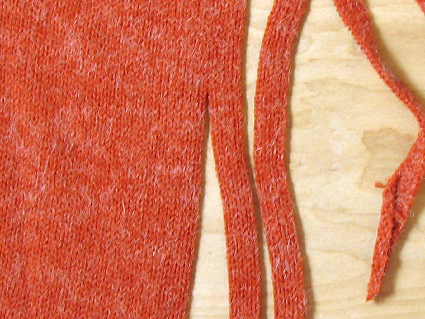 Cut Sweater Into Strips