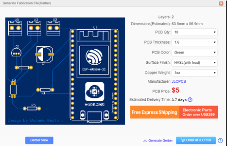 Order the PCB With JLCPCB