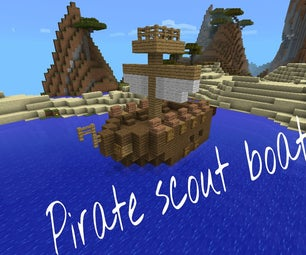 Minecraft Pe Pirate Scout Boat
