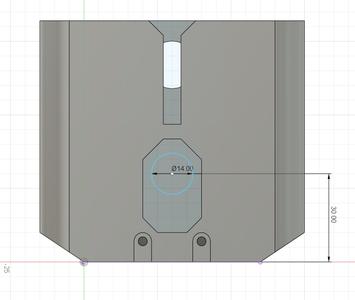 Design Process - Moving Fixture - Lead Screw Hole