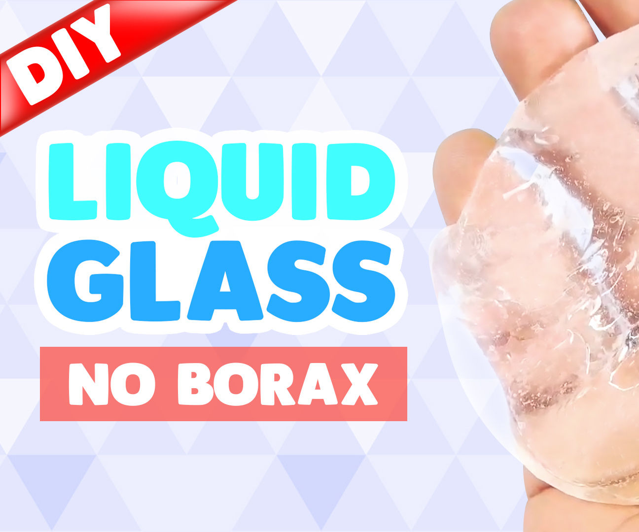 DIY LIQUID GLASS !! How to make liquid glass putty !!