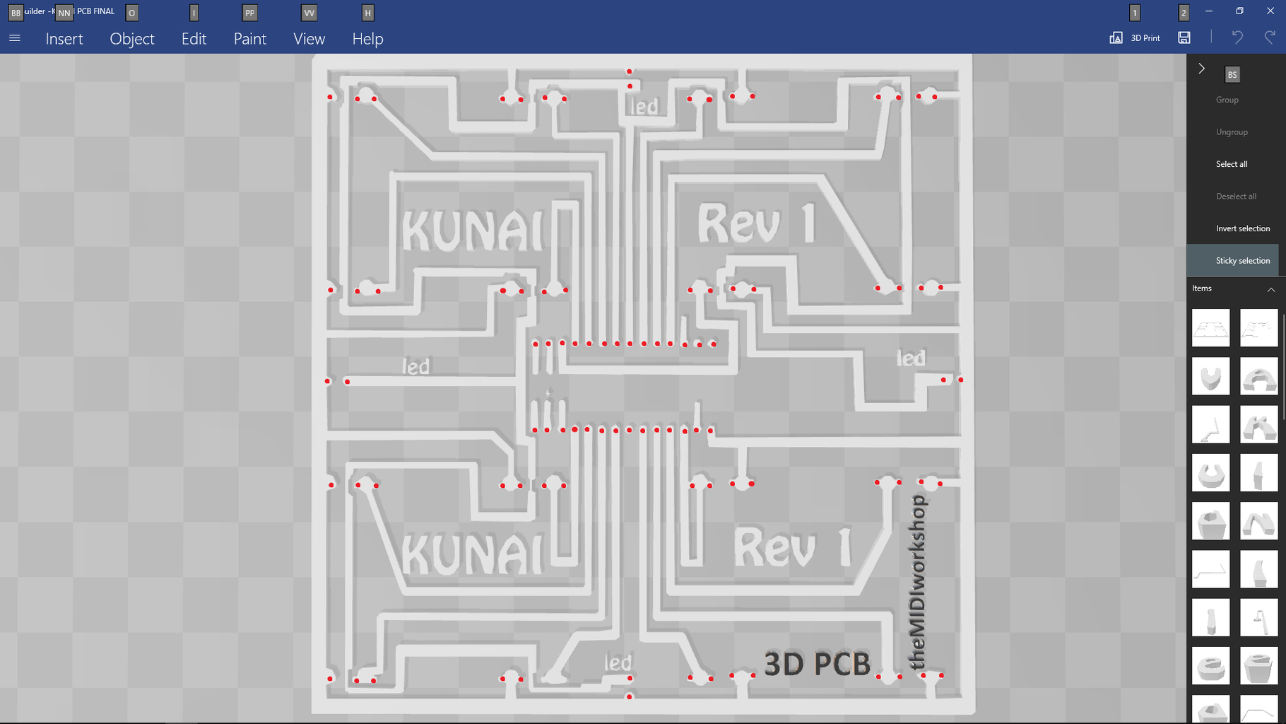 The PCB Step 3/3