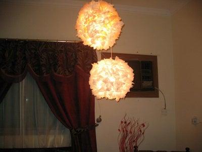 Tissue Paper Lamp