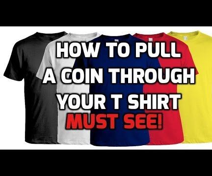 How to pull a coin through your shirt magic trick revealed