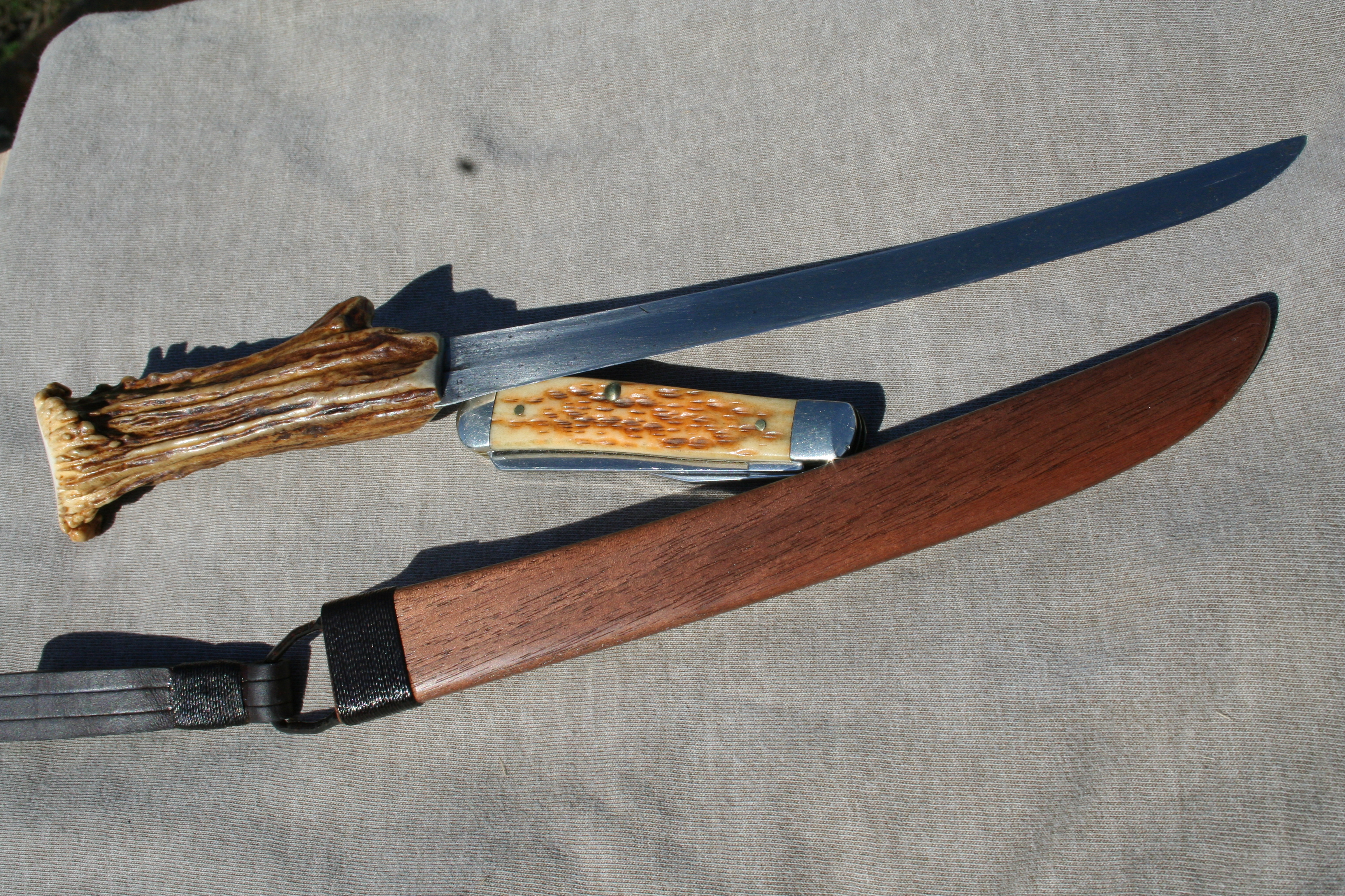 Protect your blade in a wooden sheath