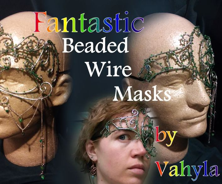 Fantastic Beaded Wire Masks