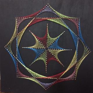 RAINBOW - Nail & Thread Art