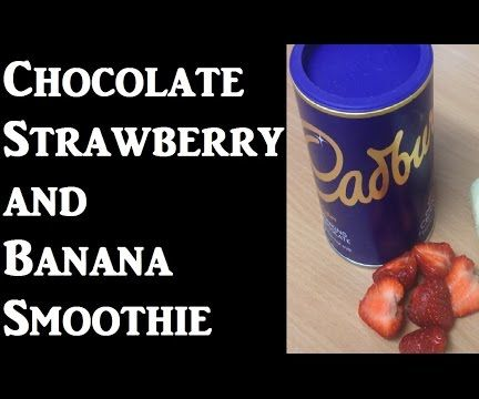 Chocolate Banana And Strawberry Smoothie