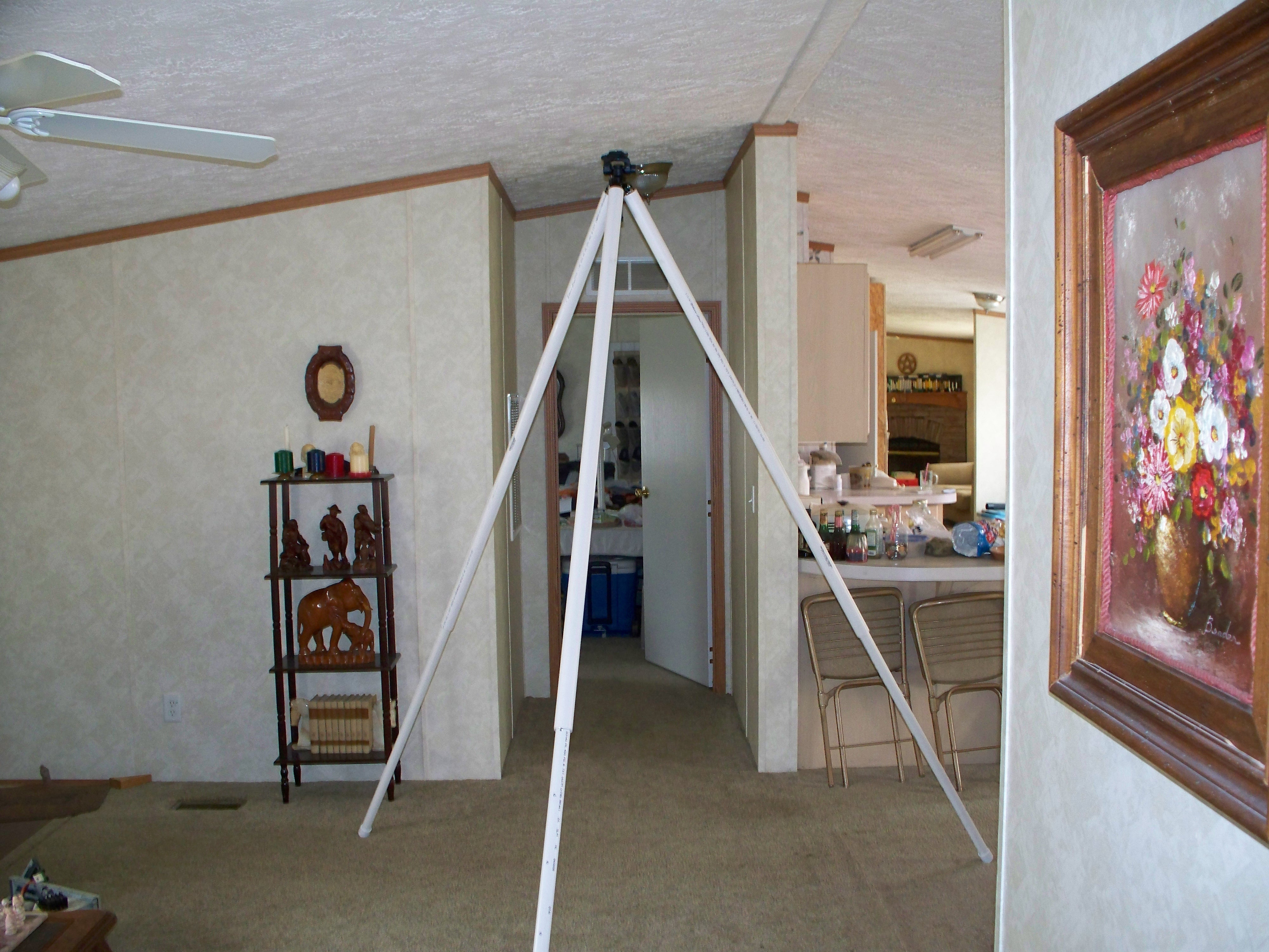 A giant camera tripod on the cheap
