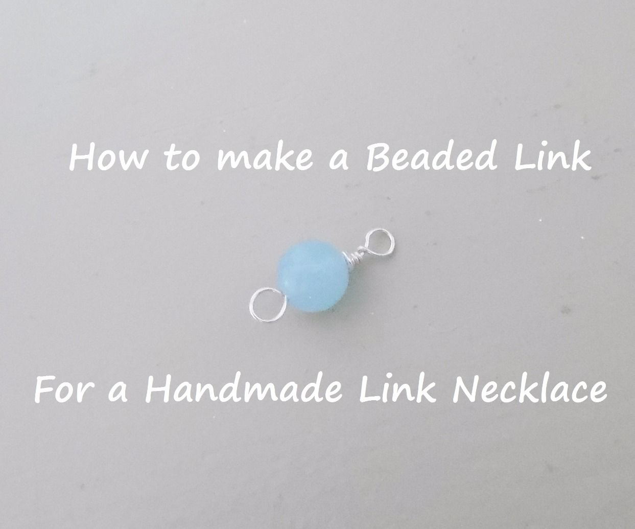 DIY How to make a Beaded Link for Necklace