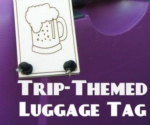旅行主题行李标签