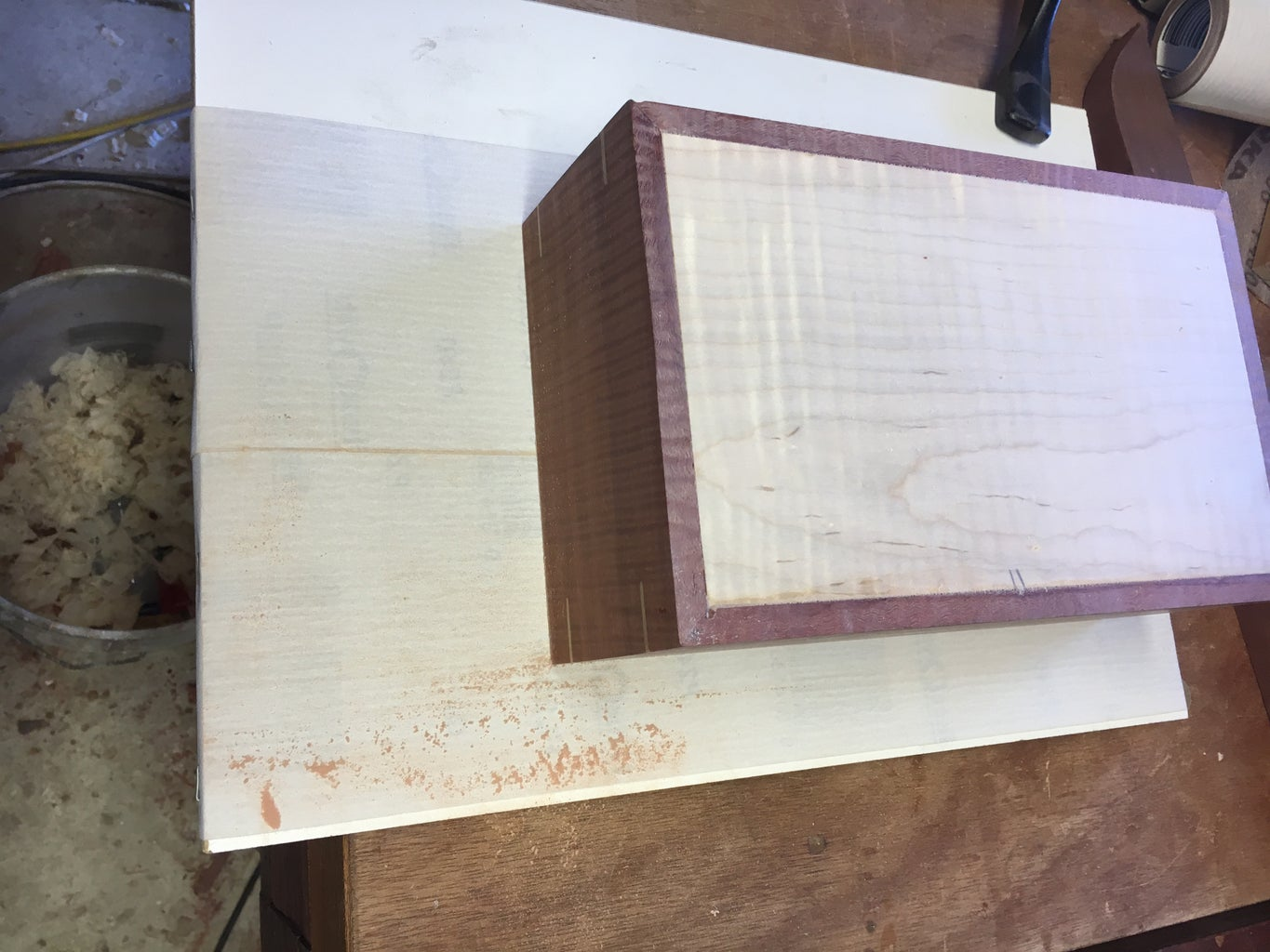 Fit the Bottom Into the Box