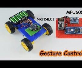 Gesture Control Car MPU6050 and NRF24L01
