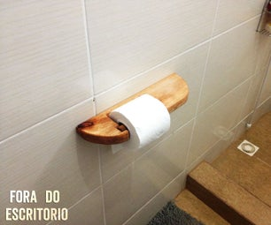 Toilet Paper Holder Out of Pallets