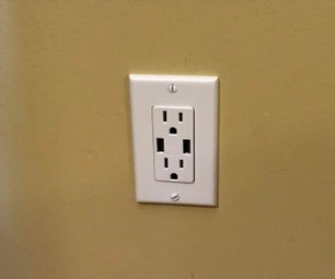 Installing an USB Charger Wall Outlet