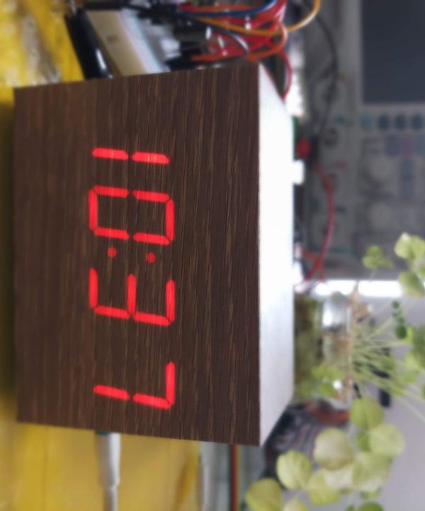 """Wooden"" Desktop Clock     *Modern Looking*"