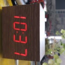 """Wooden"" Desktop Clock     *Modern Looking*"