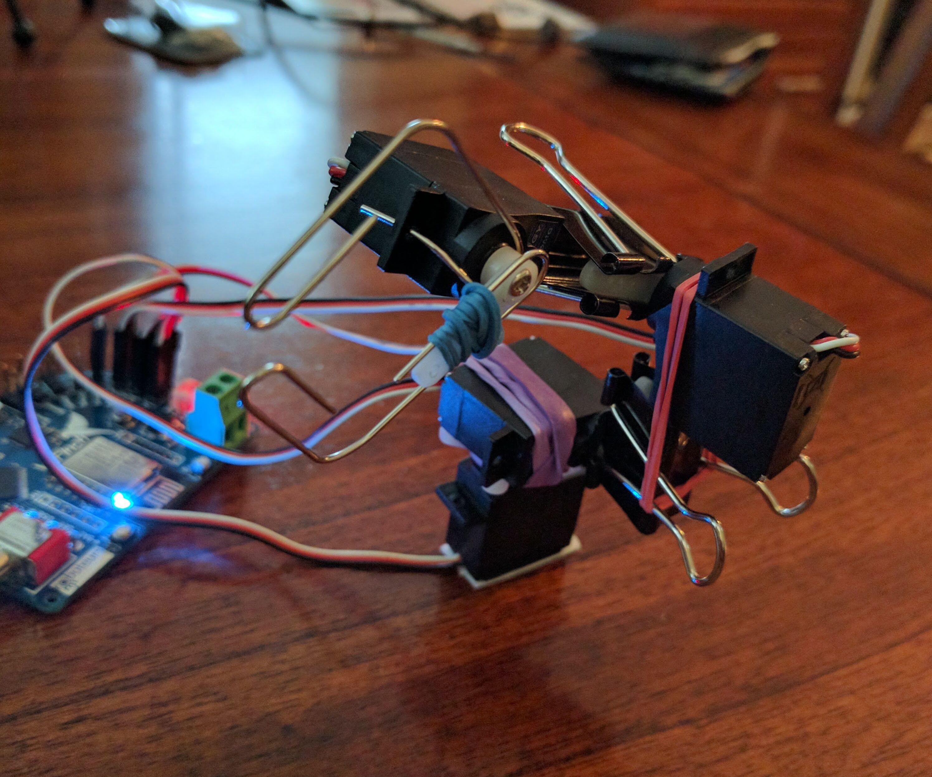 Binder Clip Robot Arm