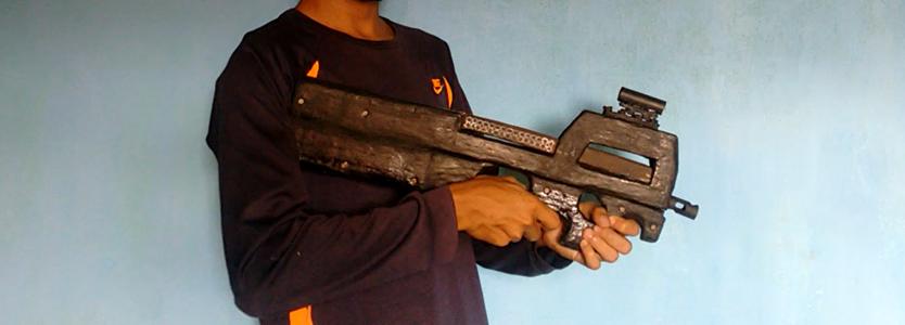 How to Make Fn P90 Submachine Gun