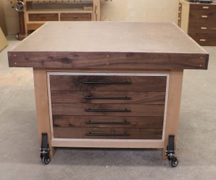 Assembly Table With Storage