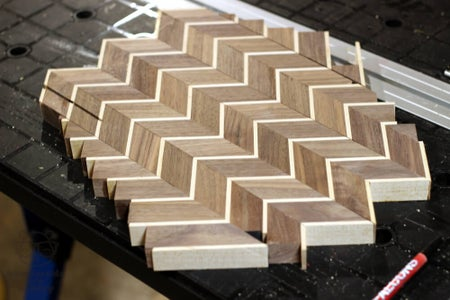 Arrange Pieces Into a Chevron Pattern and Glue Together Again