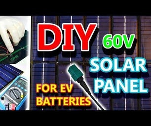 DIY Portable Solar Panel for Ebikes and EV Batteries (60V 10W)