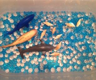 Under the Sea Sensory Bin Using Water Beads