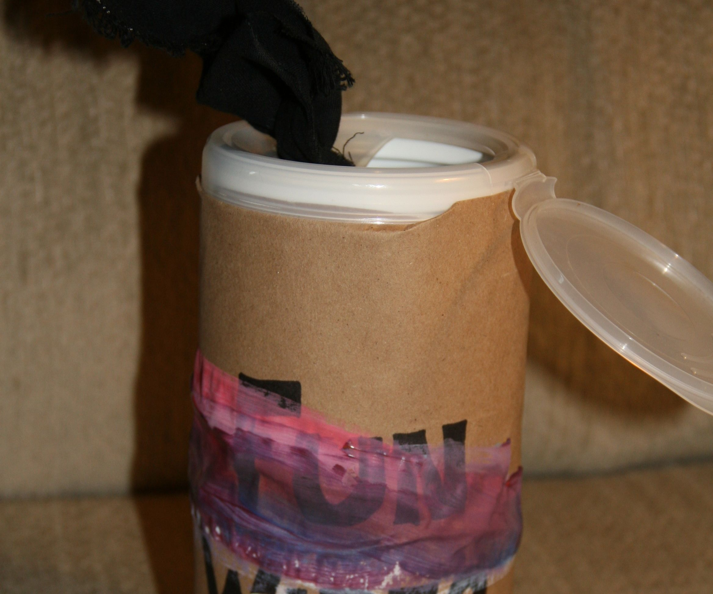 Upcycled Toddler Busy Toy Canister