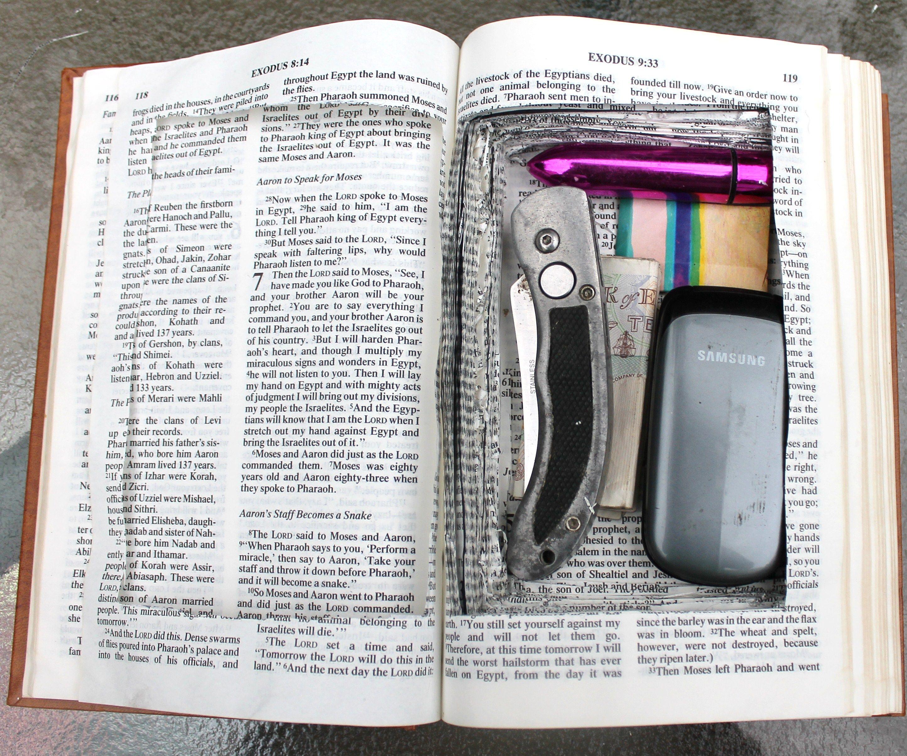 Secret Bible Compartment.