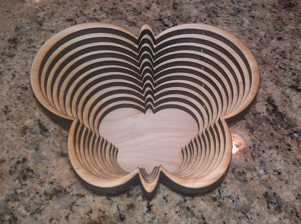 Stacked Laser Cut Bowls